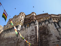 Jodhpur fort, Rajasthan, India. The impressive Jodhpur fort in Rajasthan, Indian subcontinent Royalty Free Stock Photos
