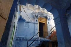 A Jodhpur house blue courtyard Stock Photography