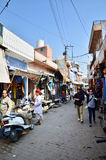 Jodhpur, Inde - 1er janvier 2015 : Village traditionnel de visite de touristes à Jodhpur Images libres de droits