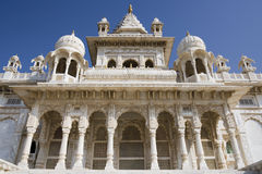 Jodhpur - India. The Jaswant Thada Chhatri (Cenotaph) in Jodhpur in Rajasthan in western India. Memorial to Maharaja Jaswant Singh the second who ruled the area Stock Image