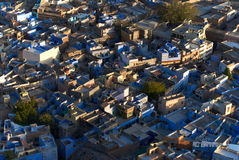 Jodhpur.India. The blue city of Rajasthan Jodhpur.blue houses were originaly reserved to the brahims.the color of the houses is du to the indigo tinge Stock Image