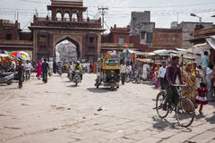 JODHPUR, INDIA - 11 GENNAIO 2017: Vita di città indiana tipica a Fotografia Stock Libera da Diritti