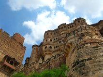 Jodhpur, India: the great Mehrangarh Fort Stock Photos