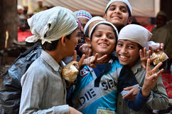 Jodhpur, India - January 1, 2015: Portrait of Indian children in Jodhpur, india. Stock Photography