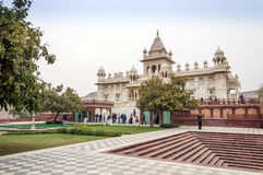 Jodhpur, India - January 1, 2015: Tourist visit The Jaswant Thada mausoleum Royalty Free Stock Photography