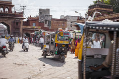 JODHPUR, INDIA - JANUARY 11, 2017: Typical indian city life at stock photo
