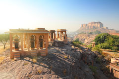 Jodhpur India - Jaswant Thada and fort Royalty Free Stock Photography