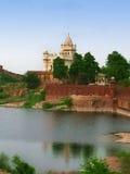 Jodhpur, India: Mausoleo del memoriale di Jaswant Thada fotografia stock