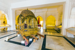 Mahadol, the Palanquin at Mehrangarh fort Royalty Free Stock Image