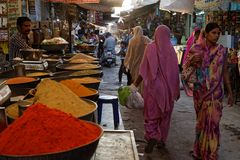 Spices for sale in the streets of Jodhpur Royalty Free Stock Photo