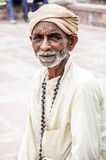 Jodhpur, India, september 10, 2010: Portrait of an old indian ma Royalty Free Stock Images