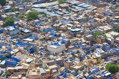 Jodhpur - la città blu Il Ragiastan, India Fotografie Stock Libere da Diritti