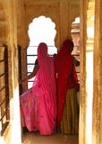 Jodhpur, la India: saris coloridas de Rajasthán Fotografía de archivo