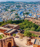 Jodhpur, Mehrangarh Fort and The Blue City.  Rajasthan, India Stock Images