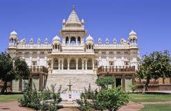 Jodhpur memorial. Sumptuous mogul style white marble Jaswant Thada rajah memorial, near Meherangarh Fort, Jodhpur, Rajasthan, India Stock Photos