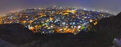 Jodhpur miasto przy nocą