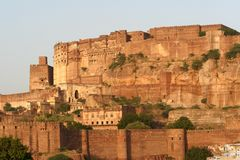 Jodhpur, Rajastan. Architecture, Jodhpur Fort, Rajastan, India Royalty Free Stock Images