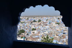 Jodhpur, Rajasthan, India. Heat haze on the old city Royalty Free Stock Images