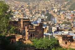 Jodhpur, Rajasthan, India. Old city architecture Royalty Free Stock Image