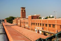 Jodhpur, Rajasthan, India stacja w wczesnym poranku, Taborowa lub Sztachetowa Zdjęcia Royalty Free