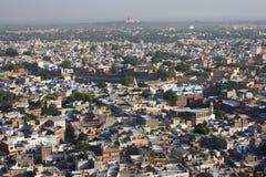 Jodhpur - vista do forte imagens de stock