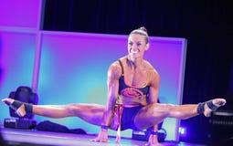 Jodi Boam wins Fitness Title Stock Image