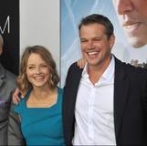 Jodie Foster & Matt Damon Stock Photo