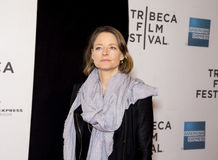 Jodie Foster. Oscar winning actress and director Jodie Foster arrives on the red carpet for the world premiere of Sunlight Jr., at the 12th Annual Tribeca Film Royalty Free Stock Photography