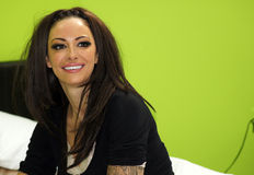 Jodie Marsh. LONDON - SEPTEMBER 30: Jodie Marsh At The POWWOWNOW 24 Hour Conference Call Event September 30, 2010 In Waterloo Station London, England Royalty Free Stock Photography