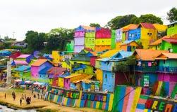 Jodipan den Colorize byn Arkivfoto