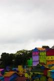 Jodipan el pueblo de Colorize imágenes de archivo libres de regalías