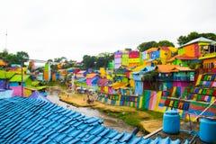 Jodipan el pueblo de Colorize fotografía de archivo libre de regalías