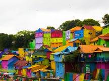 Jodipan il villaggio di Colorize Fotografie Stock Libere da Diritti