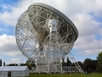 Jodrell Bank. The Lovell radio telescope at Jodrell Bank in Cheshire Royalty Free Stock Images