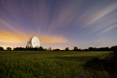 Jodrell bank at night Royalty Free Stock Photos