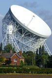 Jodrell Bank radio telescope. Jodrell Bank MKI Lovell radio telescope Stock Photography