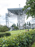 Jodrell Bank Radio telescope in the rural countryside of Cheshire England Royalty Free Stock Photo