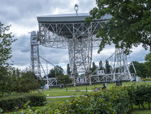 Jodrell Bank Radio telescope in the rural countryside of Cheshire England Royalty Free Stock Image