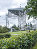 Jodrell Bank Radio telescope in the rural countryside of Cheshire England. Jodrell Bank Radio Telescope is a British observatory that hosts a number of radio Stock Photo