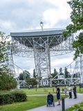Jodrell Bank Radio telescope in the rural countryside of Cheshire England. Jodrell Bank Radio Telescope is a British observatory that hosts a number of radio Stock Photos