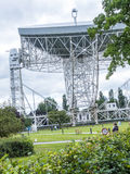 Jodrell Bank Radio telescope in the rural countryside of Cheshire England Stock Photo