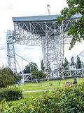 Jodrell Bank Radio telescope in the rural countryside of Cheshire England Stock Image