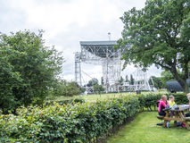 Jodrell Bank Radio telescope in the rural countryside of Cheshire England. Jodrell Bank Radio Telescope is a British observatory that hosts a number of radio Royalty Free Stock Photography