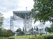 Jodrell Bank Radio telescope in the rural countryside of Cheshire England Royalty Free Stock Photos