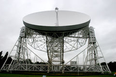 Jodrell bank radiotelescope. For astronomy Royalty Free Stock Images