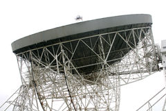 Jodrell bank radiotelescope. Close up of dish of radio telescope Stock Image