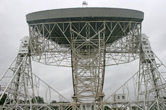 Jodrell bank radiotelescope. Dish and steel supports of radiotelescope Stock Photos