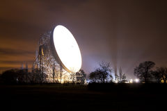 Jodrell bank satellite dish at night Stock Photography