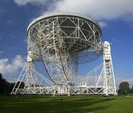 Jodrell bank telescope. The Lovell Radio Telescope seen from below royalty free stock photos