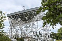 Jodrell banka Radiowy teleskop w wiejskiej wsi Cheshire Anglia Zdjęcie Royalty Free